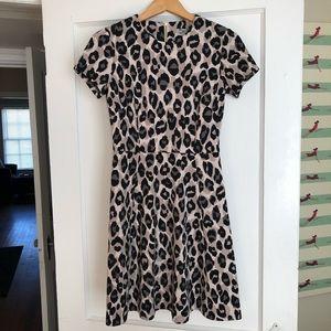 Eliza J Neutral Tones Leopard Print Dress